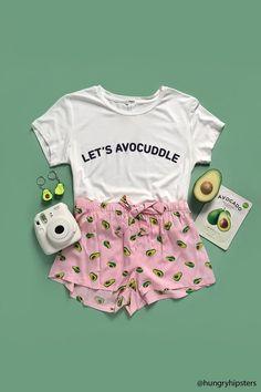 Product Name:Let's Avocuddle Graphic Pajama Set, Category:intimates_loungewear, Price:14.9