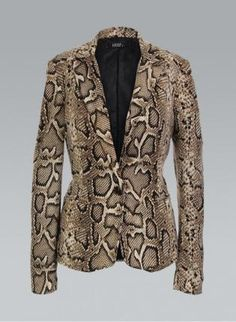 201b6eb23a2b Buy Brown Snake Print Tailored Blazer by KrispWOMAN from Krisp Clothing -    Krisp Clothing