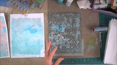 Part 2 of 2 intro to Gelli Plate this video shares basic printing process and…