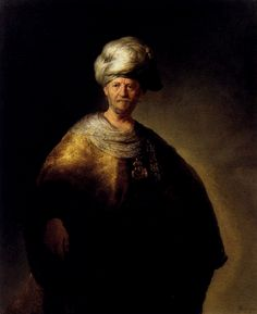 Man In Oriental Dress by Rembrandt, Oil on canvas