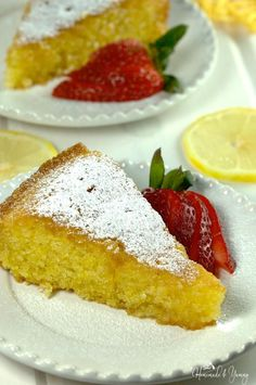 Vibrant Lemon Polenta Cake is a delicious, elegant, gluten free dessert. Simple and refined, the perfect way to end a meal.