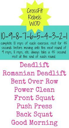 CrossFit Rebels WOD Workout