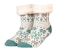 Zimní ponožky s beránkem s motivem vloček | modino.cz #modino_style #style #fashion #vanoce #darek #promamku