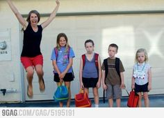 "Best ""back-to-school"" photo I've seen yet! haha, that'd be me!"
