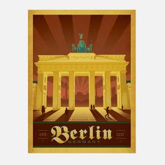 World Travel Berlin 18x24  by Shelby Rodeffer & Joel Anderson    Like this product?  ADD TO FAVORITES  265 0  $29