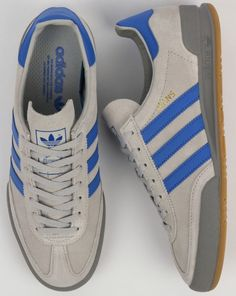 Adidas Jeans Trainers Grey/Blue - Shop Adidas At Casual Classics Adidas Jeans Trainers, Adidas Shoes, Men Trainers, Sneakers Fashion Outfits, Mens Fashion Shoes, Shoes Men, Fashion Fashion, Blue Sneakers, Casual Sneakers