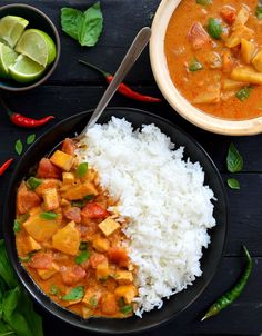 This recipe for vegan Thai curry is a quick and easy, healthy and delicious lunch or dinner idea. This curry will be on the table in less than 30 minutes!