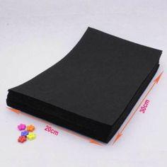 20cm X30cm Felt Fabric Sheets Squares Black Non Woven Cloth Felts Sewing Diy Craft Handmade Needlework 1mm Thickness 20pcs