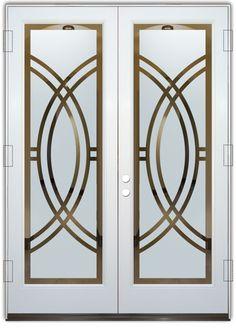 frosted glass front doors etching glass sleek art deco design sans soucie arcs ll