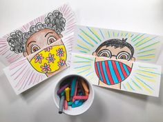 Cette enseignante prévoit une activité de la rentrée inspirée par le masque - Bricolages - Trucs et Bricolages Back To School Art, Beginning Of School, High School, Primary School Art, Art School For Kids, School Ideas, Arte Elemental, Classe D'art, Self Portrait Art