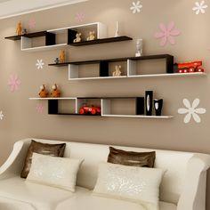Living Room Partition Design, Room Partition Designs, Living Room Tv Unit Designs, Home Decor Boxes, Home Decor Furniture, Furniture Design, Unique Wall Shelves, Wall Shelf Decor, Bookshelf Design