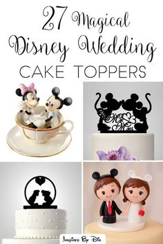 Planning a Disney (or Disney-themed) wedding? This page is full of inspiration for your cake topper!