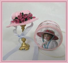 August Series 2 Hat Project - DOWNLOAD : Cynthia Howe Miniatures!, Your premier source for Dollhouse Miniatures, Miniature Classes, Miniature Dolls and Molds, Kits and Free Tutorials.