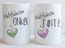 """""""Weltliebste TANTE & Weltliebster ONKEL"""" - SET"""