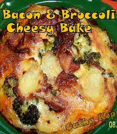 Bacon & Broccoli Cheesy Bake - Quick, easy and very delicious! #bacon #cheese #broccoli #bake