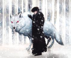 33 dibujos de Jon Snow y Ghost para usar como wallpaper – Game of Thrones – It's Spoiler Time! Nevada, Saga, Jon Snow, Game Of Thrones Wallpaper, George Rr Martin, Game Of Thrones Art, Illustrations, Fantasy, Fire And Ice