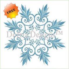 Snowflake embroidery design from Dorria Designs