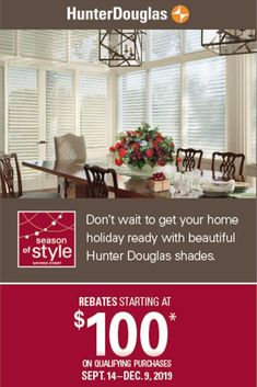Save now with rebates on beautiful, innovative Hunter Douglas shades.* Ends Modern Roman Shades, Honeycomb Shades, Drapery Designs, Hunter Douglas, Roller Shades, Window Styles, Buy Local, Vignettes, Design Trends