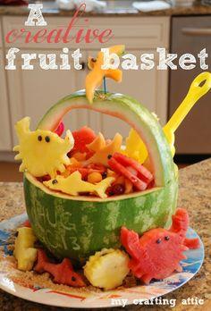A creative fruit basket!