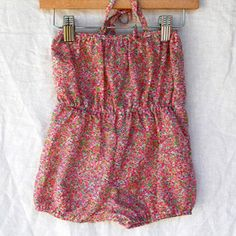 Liberty Floral Romper - milk and honey baby