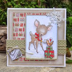 Wild Rose Studio one of the Bluebell Christmas stamps