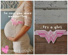 Wonder Woman Themed Pregnancy Sash for by FeltFromTheHeartXXOO