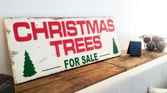 19 x 48 Barn Wood Christmas Trees For Sale Wall Decor Holiday Sign Custom Fixer Upper Joanna Gaines Tree Shabby Chic Home Rustic Gift by ThePinkToolBox on Etsy https://www.etsy.com/listing/250109336/19-x-48-barn-wood-christmas-trees-for
