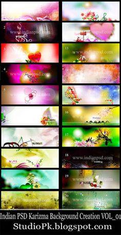 Indian PSD Karizma Background Creation VOL_01 ~ StudioPk