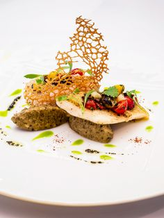John Dory fillet with aubergine caviar and avocado oil by Xavier Boyer