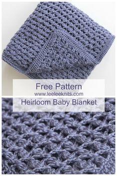 1964317e6b8 Free Heirloom Baby Blanket Crochet Pattern - Leelee Knits Crochet Yarn
