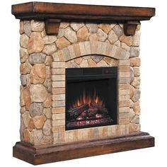 AFW has an amazing selection from Classic Flame / Twin Star including the Tequesta Stone Fireplace with Insert in stock or quick ship! Shop this and other items by Classic Flame / Twin Star and save! Stone Electric Fireplace, Faux Stone Fireplaces, Stone Mantel, Fireplace Mantels, Fireplace Ideas, Faux Fireplace, Fireplace Remodel, Media Fireplace, Basement Fireplace