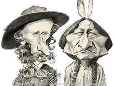 Little Big Horn - Lt. Col. George A. Custer et Sitting Bull