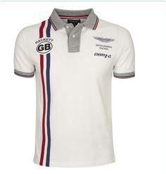 cdc05cf8fe75e ralph lauren store online! Hackett Bonne qualité Aston Martin Racing Bandes  verticales blanc Hommes Mens