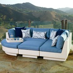 Tangkula 6 pcs outdoor wicker furniture set sofas ottoman for Aosom llc outsunny chaise lounge