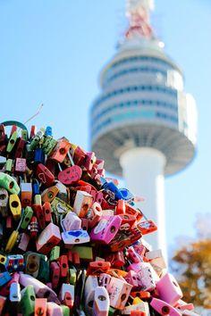 Lovelocks at the Namsan Tower, Seoul, South Korea