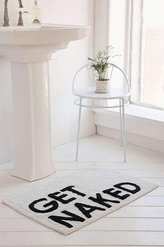 Urban Outfitters Get Naked Bath Mat #affiliatelink