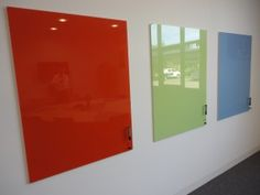 Office glass whiteboards, add colour and offer some great functions.