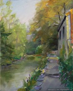 Joseph Terrone - Walk Along The River, 8 x 10.   To view the entire exhibit: http://thebrighamgalleries.auctionserver.net/view-auctions/catalog/id/65/