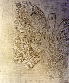 Inspiration for Joint Compound raised stencil on canvas...pic only