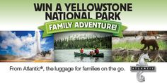 Win a Trip for Four to Yellowstone National Park #ad