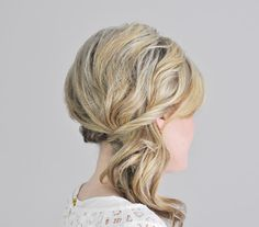 Side-Swept with a Twist -- sort of like how this is between side swept and side pony tail...