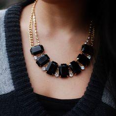 Black Sparkle Necklace.