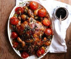 balsamic roast chicken how to make balsamic reduction