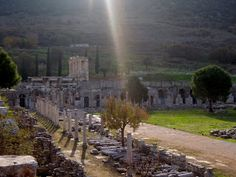 Temple of Serapis within the Commercial Agora (trade center) of Ephesus - See more at: http://www.chowgypsy.com/2012/12/getting-to-ephesus-photos-efes-tourism.html#sthash.z1llFO0h.dpuf