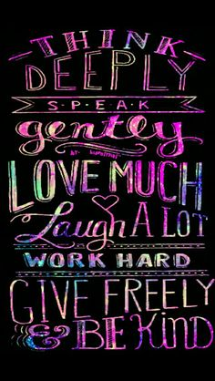 Words to live by galaxy wallpaper I made for the app CocoPPa.
