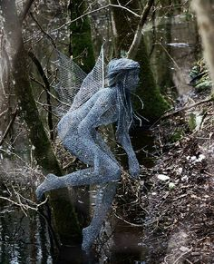 "Inner Spirit Collection. Derek Kinzett Wire Sculptor. ""Woodland Spirit"" 2009 by Derek Kinzett Wire Sculptures, via Flickr"