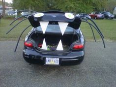 diy halloween cheap and fun way to decorate your vehicle for church or school