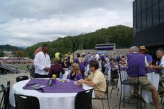 Great area, on the deck of the Ramsey Center, for the All-Sports Reunion Saturday.