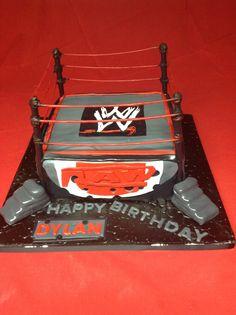 Wrestling Birthday Cake.