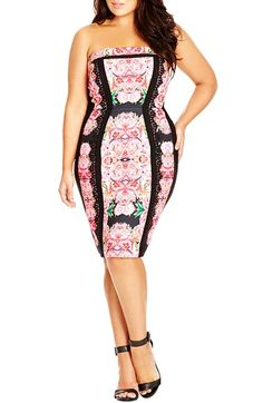 Plus Size Floral Body-Con Dress